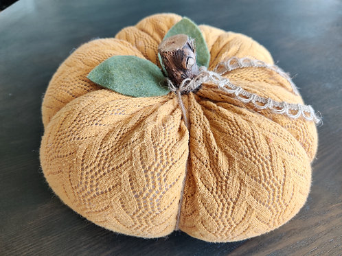 Large Mustard Sweater Pumpkin