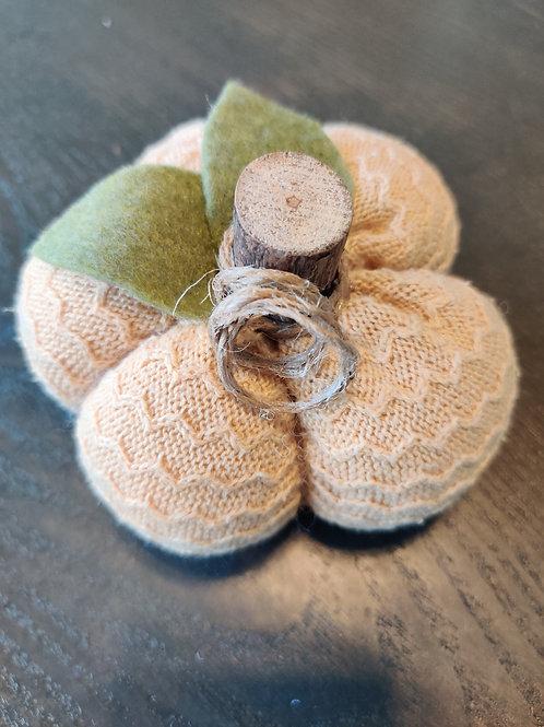 Small Mustard Chevron Sweater Pumpkin