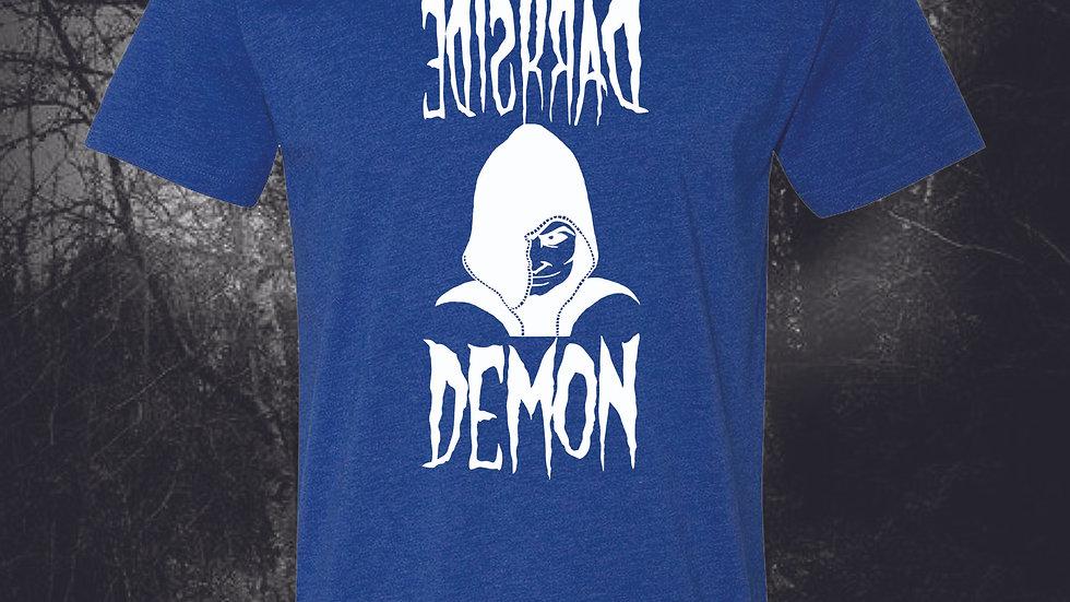 ROYAL BLUE DARKSIDE DEMON BLUE LOGO T-SHIRT