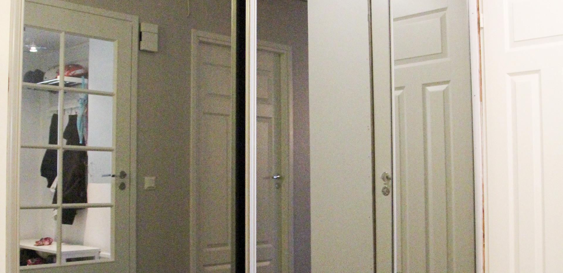 Harmaa teräskehä, savunharmaa peili