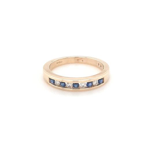 9ct Sapphire & Diamond Eternity Ring