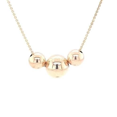 9ct Triple Bead Pendant