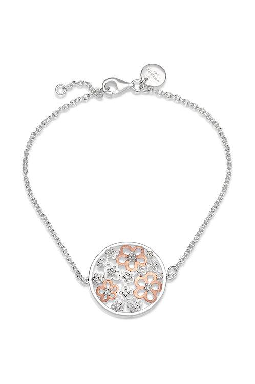 Unique Silver Rose Plated Daisy Bracelet MBR562