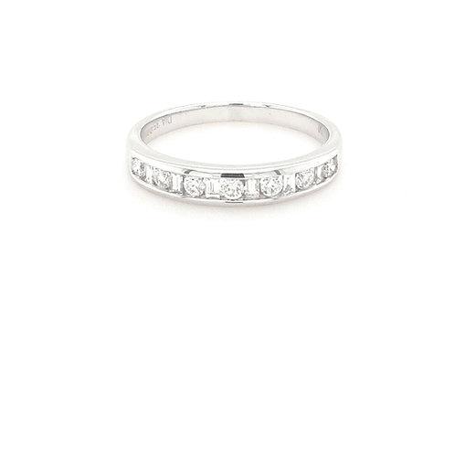 18ct Baguette & Brilliant Round Eternity Ring