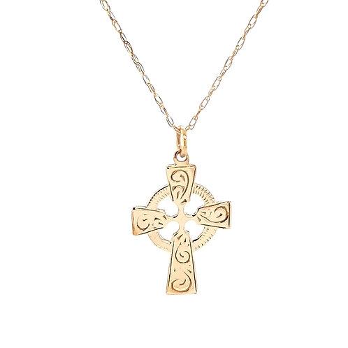 9ct Celtic Cross