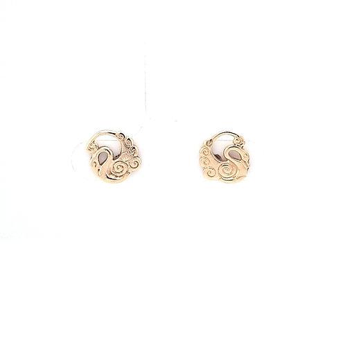 9ct Children Of Lir Earrings