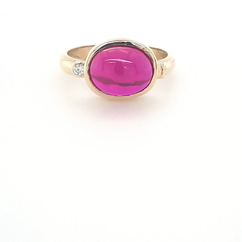 9ct Synthetic Cabochon Ruby