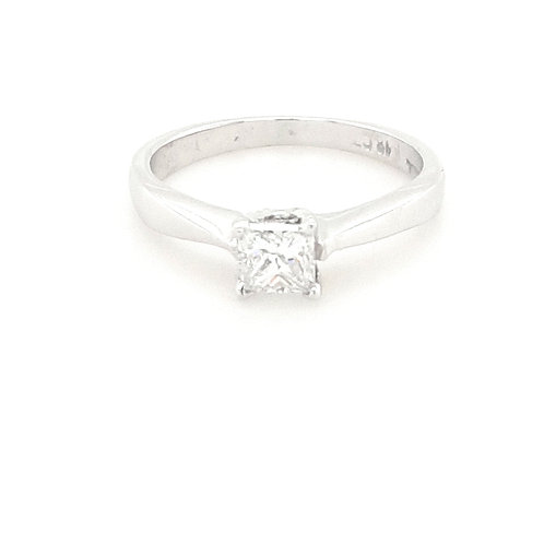 18ct Princess Cut Solitaire Diamond Ring