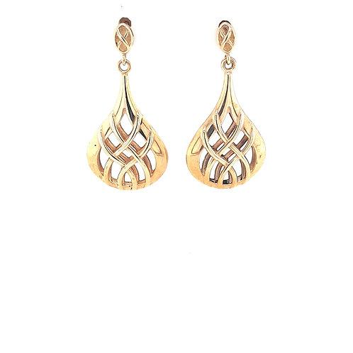 9ct Pear Shape Earrings