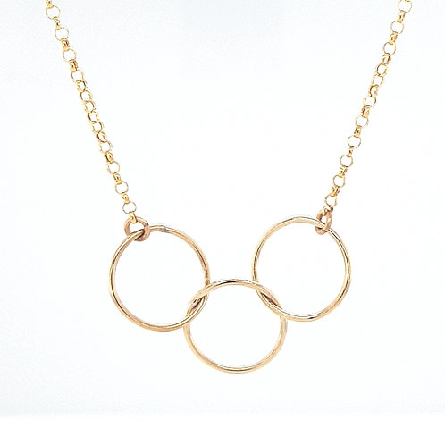 9ct3 Circle Interlocking Pendant