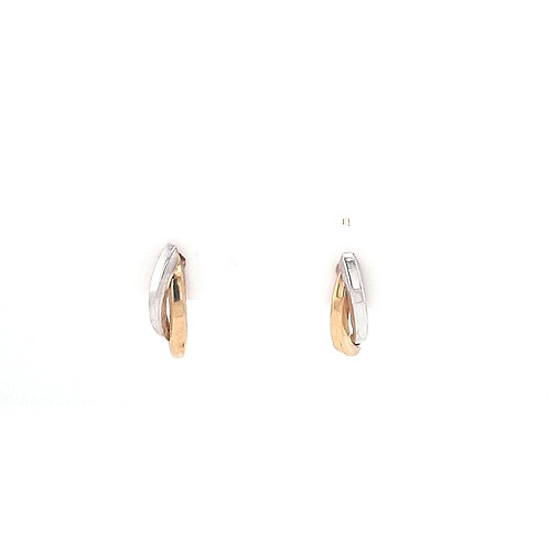 9ct Yellow & White Gold Earrings