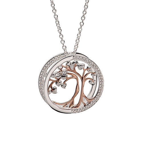 Unique Silver & Gold Plated Tree Of life Pendant MK 781