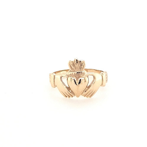 9ct Gents Gold Claddagh