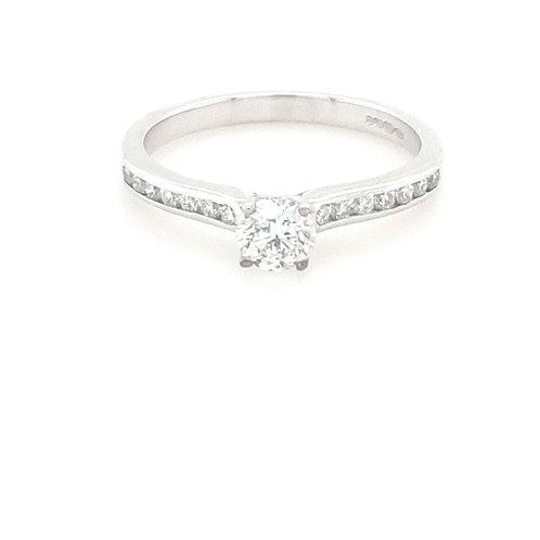 9ct Gold Brilliant Round Solitaire Diamond Ring