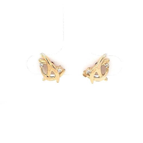 9ct Yellow Diamond Earrings