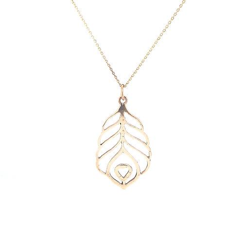 9ct Heart Leaf Pendant