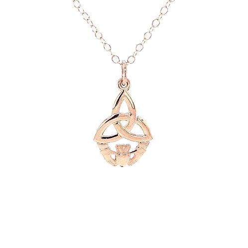 9ct Rose Gold Trinity /Claddagh Pendant