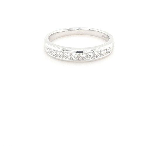 18ct Princess Cut Eternity Ring