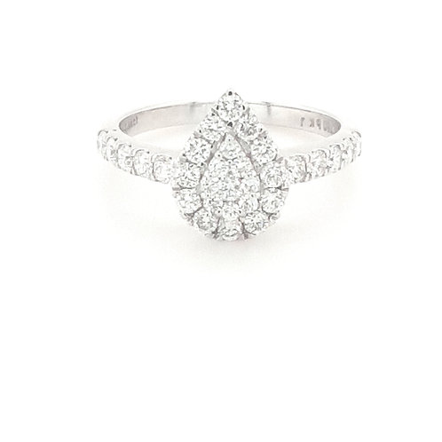 18ct White Gold Pear Shape Diamond Ring