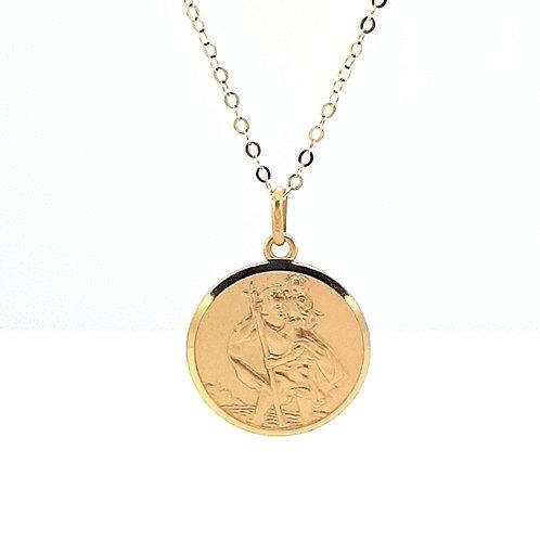 9ct St Christopher Gold Medal