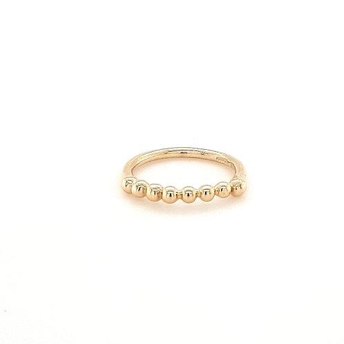 9ct Beaded Ring