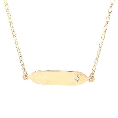9ct Rectangle Diamond Pendant