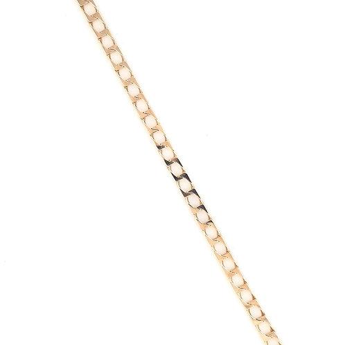 9ct Gents Square Curb Bracelet