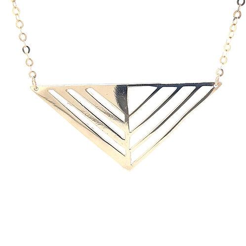 9ct Triangle Pendant
