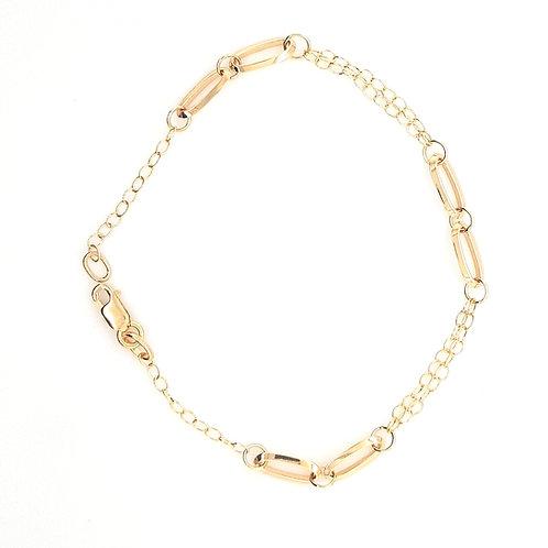 9ct Double Open Link Bracelet