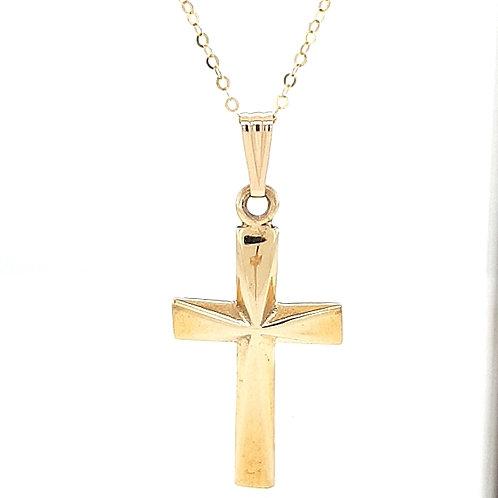 9ct Solid Heavy Cross