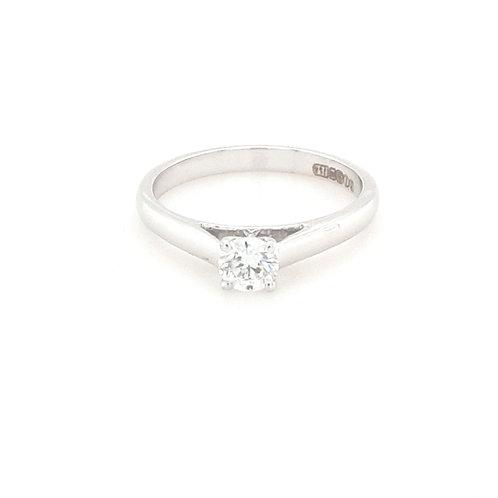 18ct Brilliant Round Solitaire Diamond Ring
