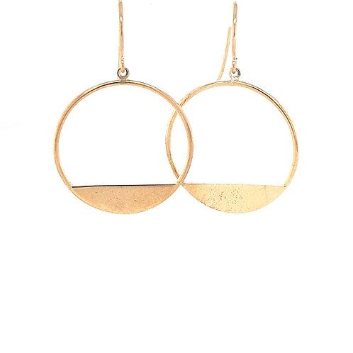 9ct Circle Earrings