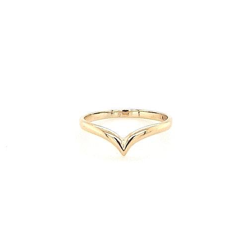 9ct Wishbone Ring