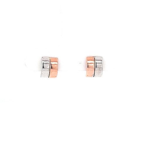9ct Rose & White Gold Earring