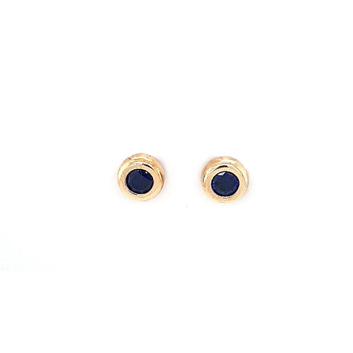 9ct Synthetic Sapphire Earrings