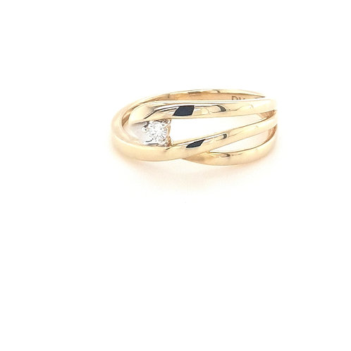 9ct Three Strand Diamond Ring