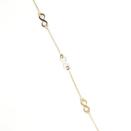 9ct Infinity Gold Bracelet