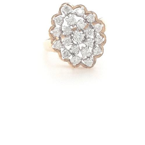 9ct Diamond Cocktail Ring