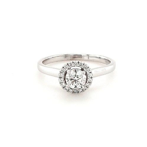 18ct Brilliant Round Halo Ring