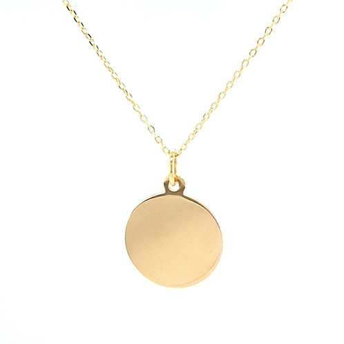 9ct Plain Gold Disc