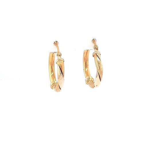 18ct Yellow Gold Creole Earrings