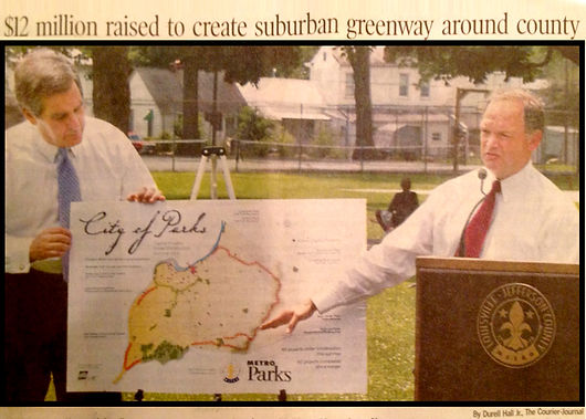 Steve Henry working with Mayor Jerry Abramson to create the City of Parks.