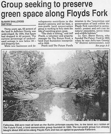 Saving Floyds Fork