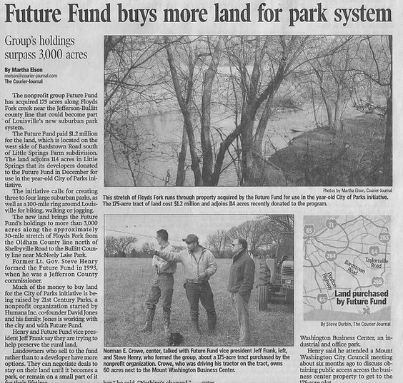 Future Fund buys more land for park system.