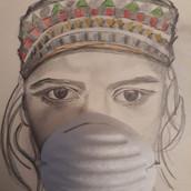 18 mars - Portrait avec masque, Anne