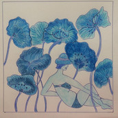 23 avril 2020 Baigneuse aux pavots bleus Laurence