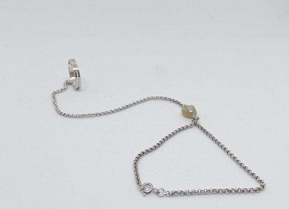 Gelang Silver (malha grossa)