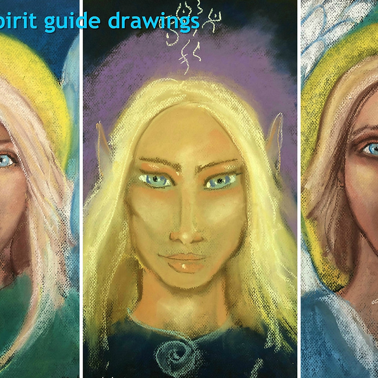 Spirit Guide drawing with Rachel