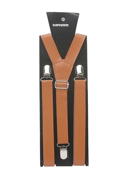 All Leather Adult Suspenders