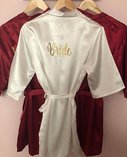 Personalized Plain Satin Robes